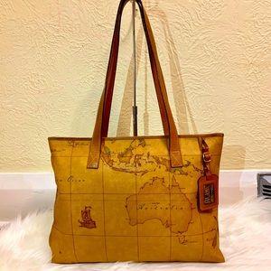 authentic alviero travel/ laptop bag